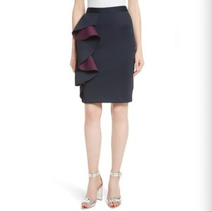Ted Baker 'Derosa Oversized Ruffle Pencil Skirt'